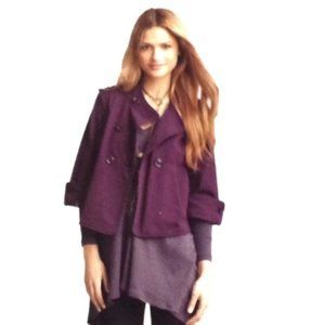 Cabi Purple Button Front Jacket Style# 182